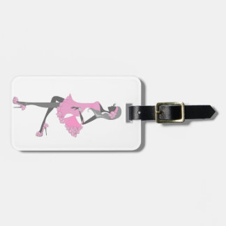Little Miss Lady Shopper Dressed In Pink Luggage Tags