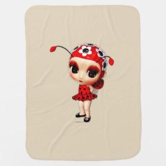 Little Miss Ladybug Baby Blanket