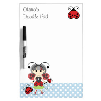 Little Miss Ladybug Fairy Princess Doodle Pad Dry Erase White Board