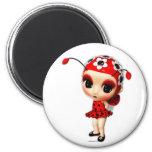 Little Miss Ladybug Refrigerator Magnets