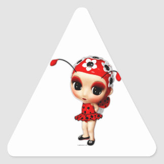 Little Miss Ladybug Triangle Stickers