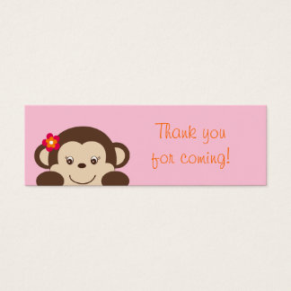 Little Miss Monkey Part Favor Gift Tags Mini Business Card