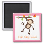 Little Miss Monkey Party Favour Magnets