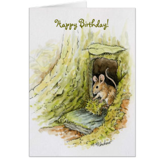Little Miss Mouse - Happy Birthday Card