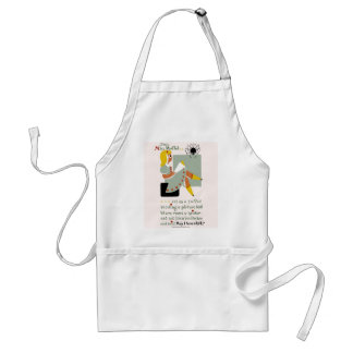 Little Miss Muffet. 1940 reading promotion poster Standard Apron