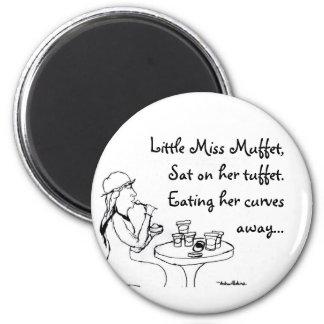 Little Miss Muffet 6 Cm Round Magnet