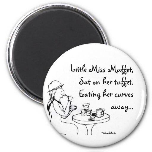 Little Miss Muffet Fridge Magnet
