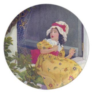 Little Miss Muffet Nursery Rhyme Plate