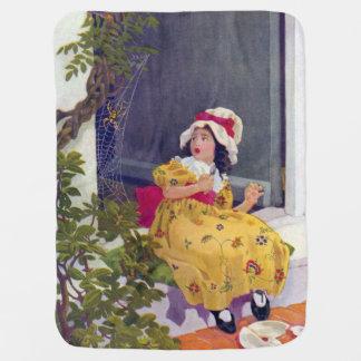 Little Miss Muffet Nursery Rhyme Receiving Blankets