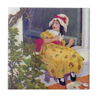 Little Miss Muffet Nursery Rhyme Tile