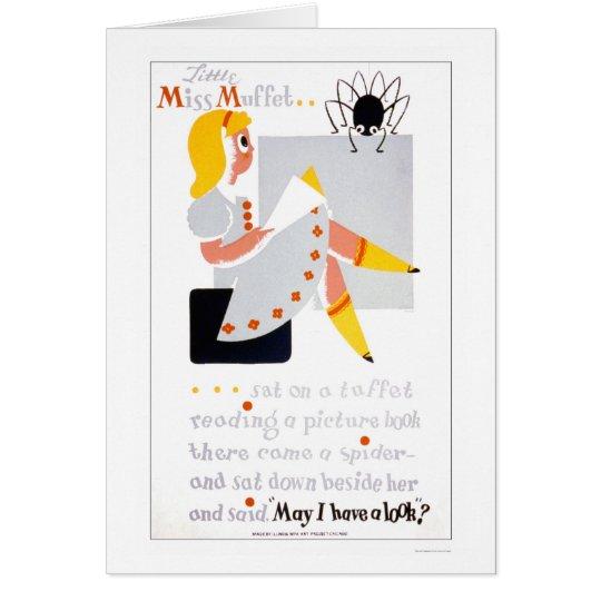 Little Miss Muffet Reads 1940 WPA Card