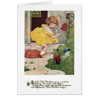 Little Miss Muffett Vintage Nursery Rhyme Card
