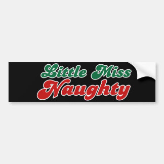 Little Miss Naughty Bumper Stickers