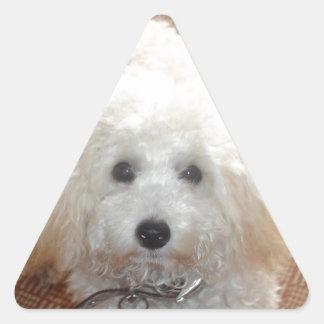 Little Miss Pretty Poodle Triangle Sticker
