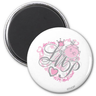 Little Miss Princess - 100% Perfection 6 Cm Round Magnet