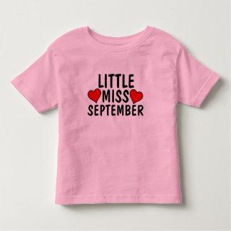 LITTLE MISS SEPTEMBER birthday Girl T-shirts