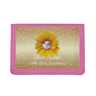 Little Miss Sunshine Smiling Cat Tri-fold Wallet