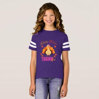 Little Miss Thankful Turkey T-Shirt Thanksgiving