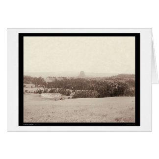 Little Missouri Buttes & Devil's Tower WY 1890 Card