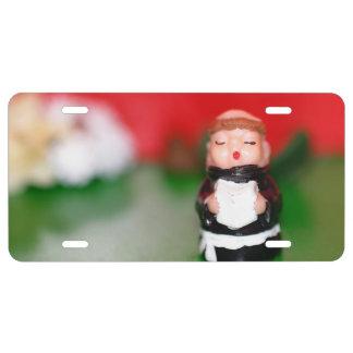 Little Monk License Plate