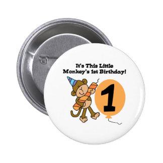 Little Monkey 1st Birthday 6 Cm Round Badge