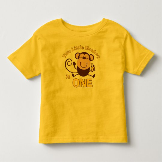 Little Monkey 1st Birthday Boy Toddler T-shirt