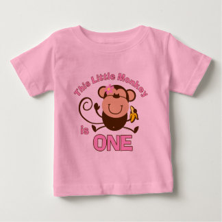 Little Monkey 1st Birthday Girl Infant T-shirt