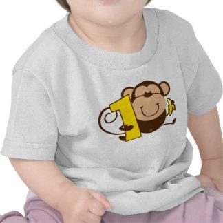Little Monkey 1st Birthday Mero T Shirts