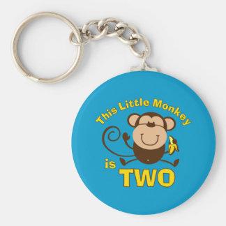 Little Monkey 2nd Birthday Boy Keychain