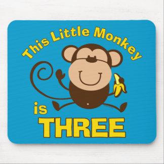 Little Monkey 3rd Birthday Boy Mouse Mat