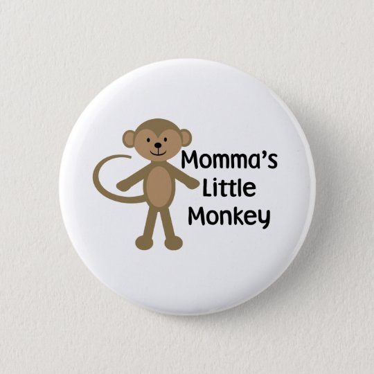 Little Monkey 6 Cm Round Badge