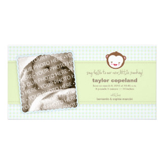 Little Monkey Baby Announcement Photo Card
