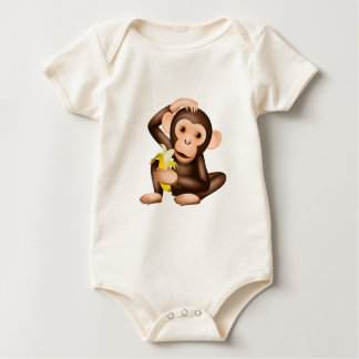 Little monkey baby bodysuit