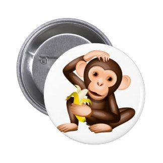 Little monkey pinback buttons