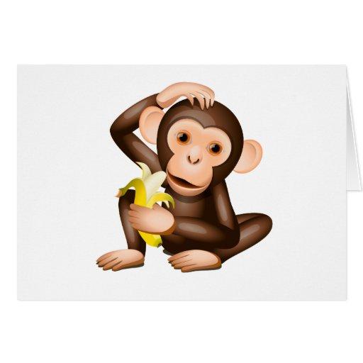 Little monkey cards