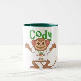 Little Monkey Cody Two-Tone Coffee Mug