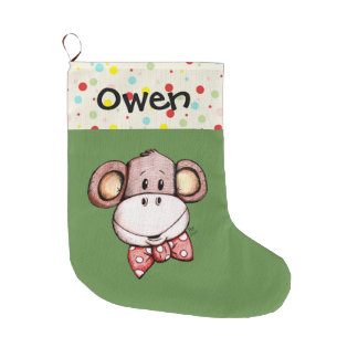 Little Monkey Cute Christmas Stocking
