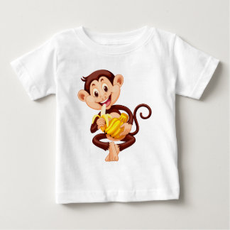 Little monkey eating banana baby T-Shirt