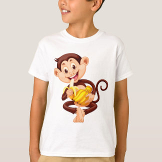 Little monkey eating banana T-Shirt