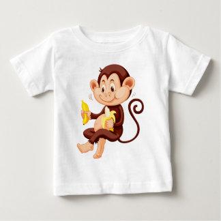 Little monkey eating bananas t shirts