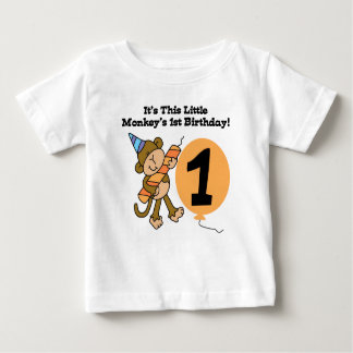Little Monkey First Birthday Baby T-Shirt