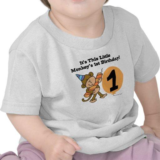 Little Monkey First Birthday Shirts