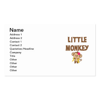 Little Monkey (Girl) Double-Sided Standard Business Cards (Pack Of 100)