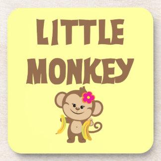 Little Monkey Girl Drink Coasters