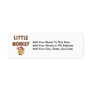 Little Monkey (Girl) Return Address Label