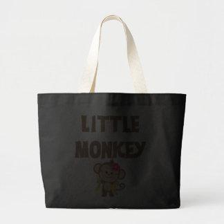 Little Monkey (Girl) Tote Bags
