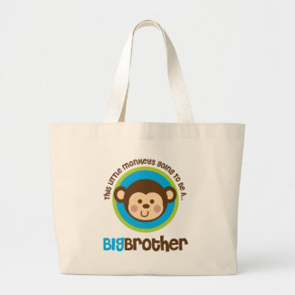 Little Monkey Going To Be A Big Brother Tote Bags