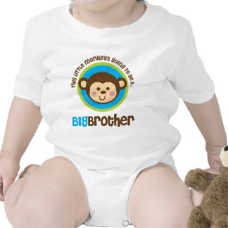 Little Monkey Going To Be A Big Brother Baby Bodysuits