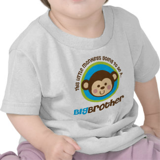 Little Monkey Going To Be A Big Brother Tshirts