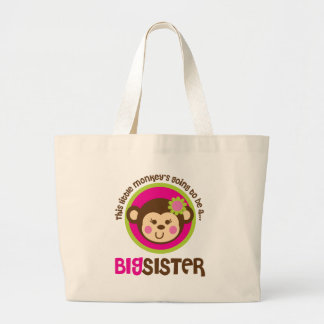 Little Monkey Going To Be A Big Sister Tote Bags